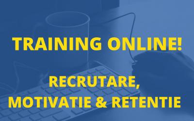 Training online complet de Recrutare, Motivare si Retentie- Toate 4 Module
